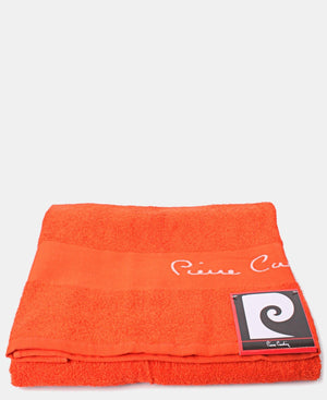 85X150cm Jacquard Border Bath Sheet - Orange