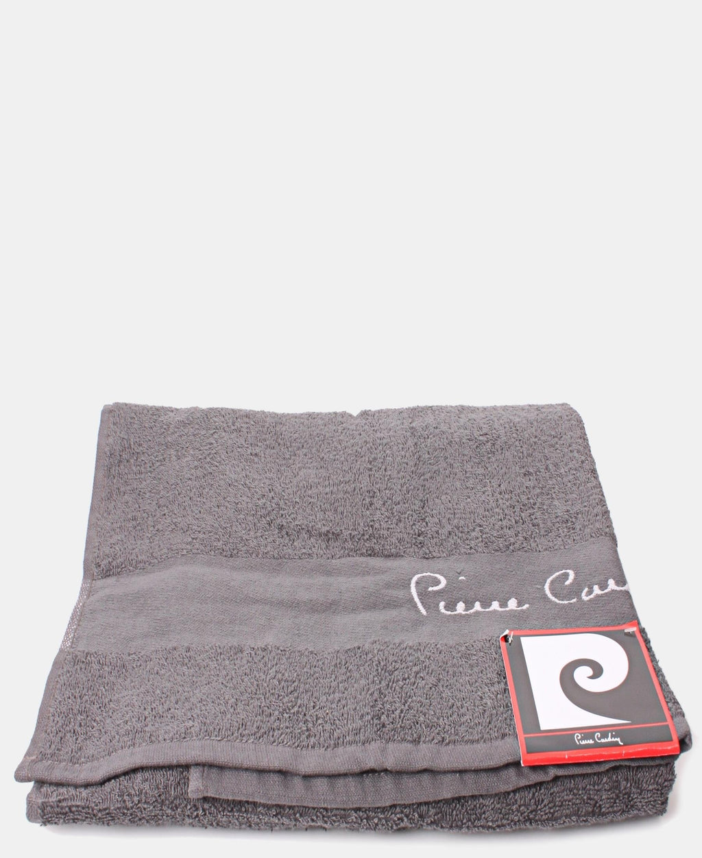 70X130cm Jacquard Border Bath Towel - Charcoal