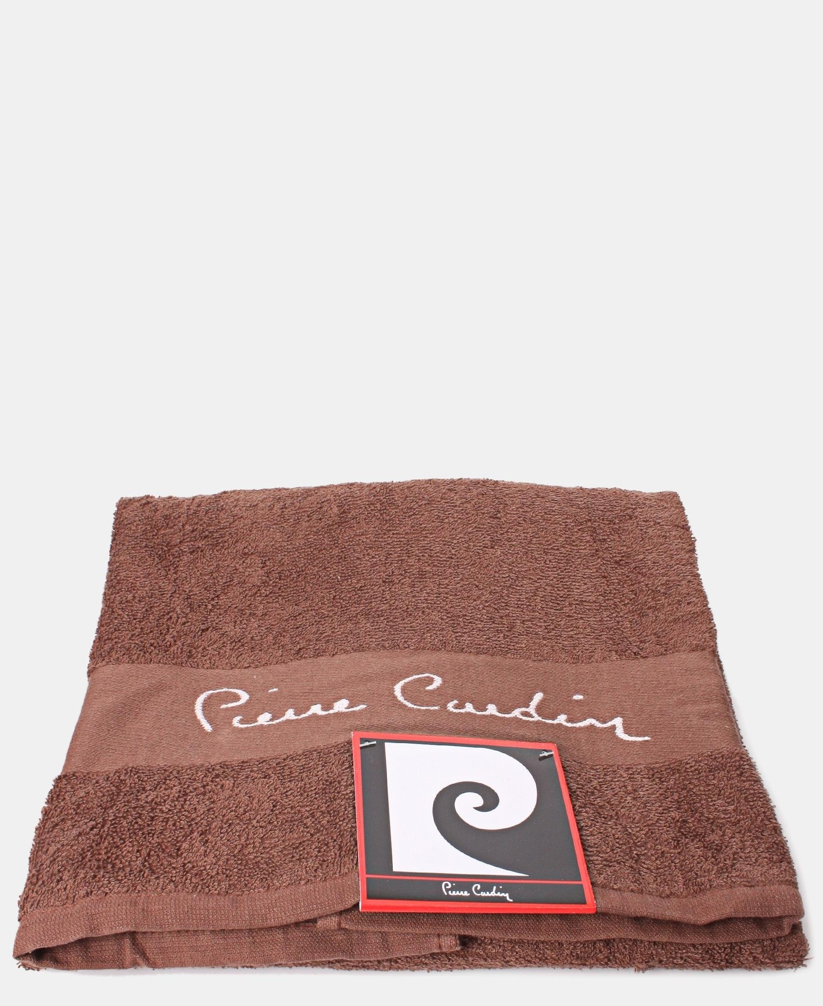 70X130cm Jacquard Border Bath Towel - Brown