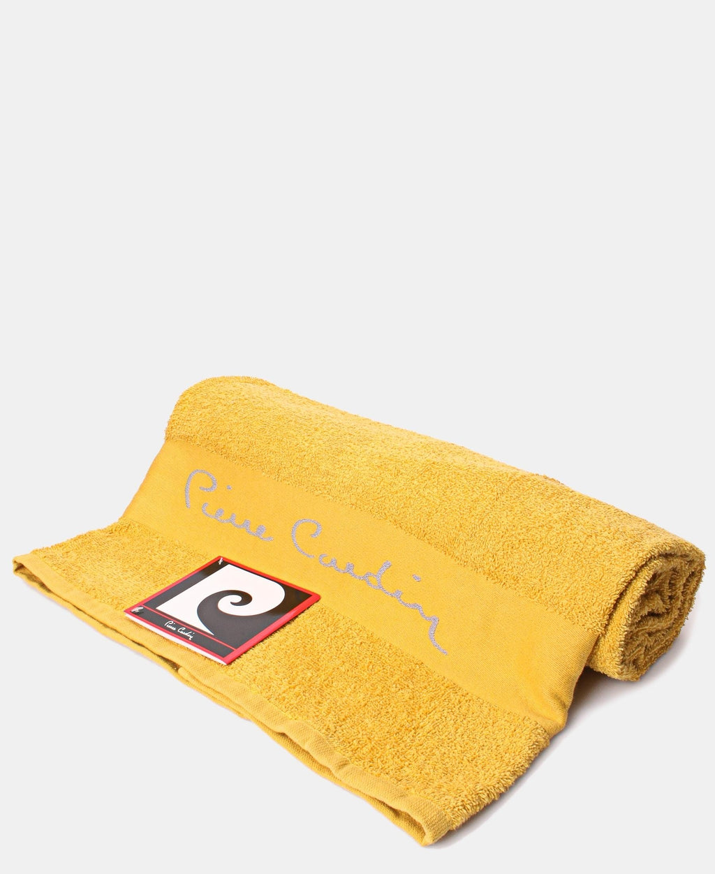 85X150cm Jacquard Border Bath Sheet - Mustard