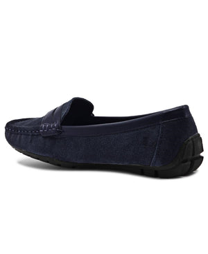 Leather Tunis - Navy