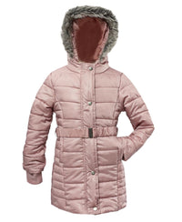 Girls Belted Hoody - Pink