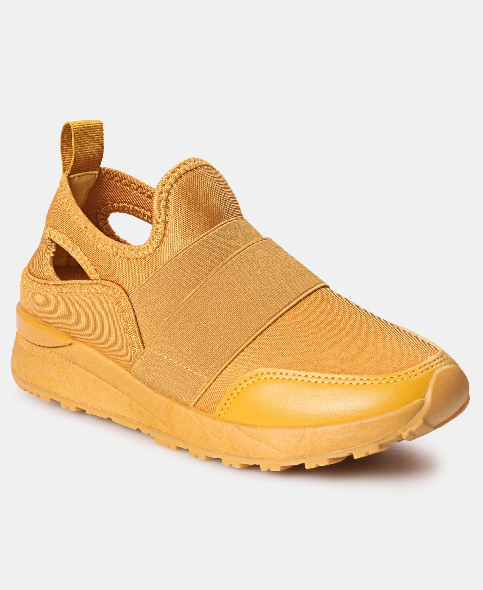 Ladies' Casual Sneakers - Mustard