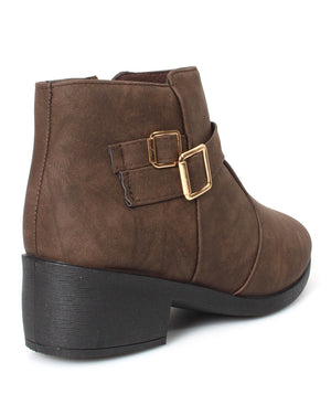 Ladies' Ankle Boots - Choc