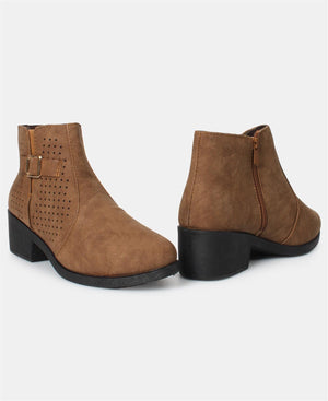 Ladies' Ankle Boots - Tan