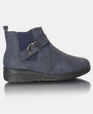 Ladies' Ankle Boots - Navy