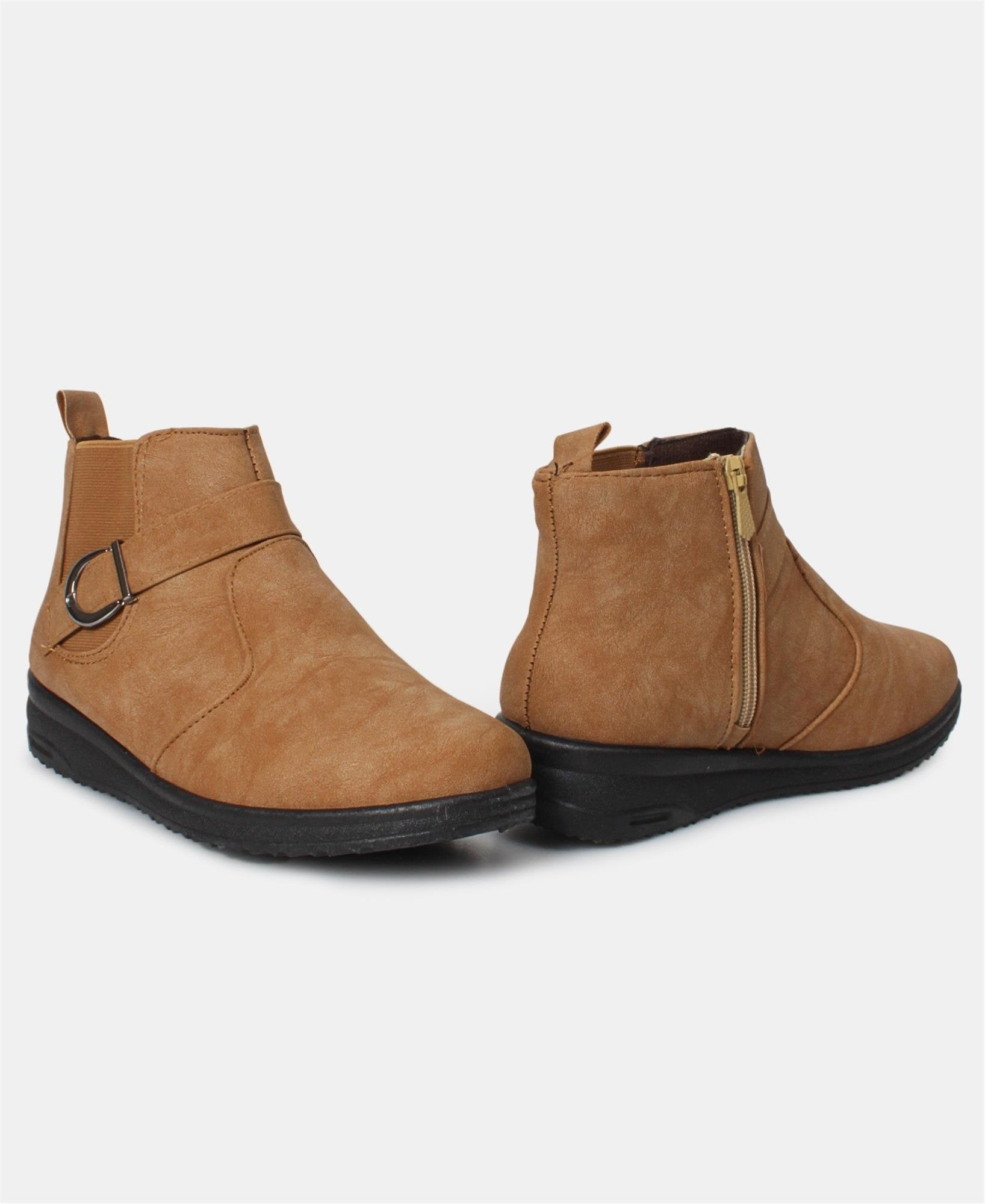 Ladies' Ankle Boots - Camel