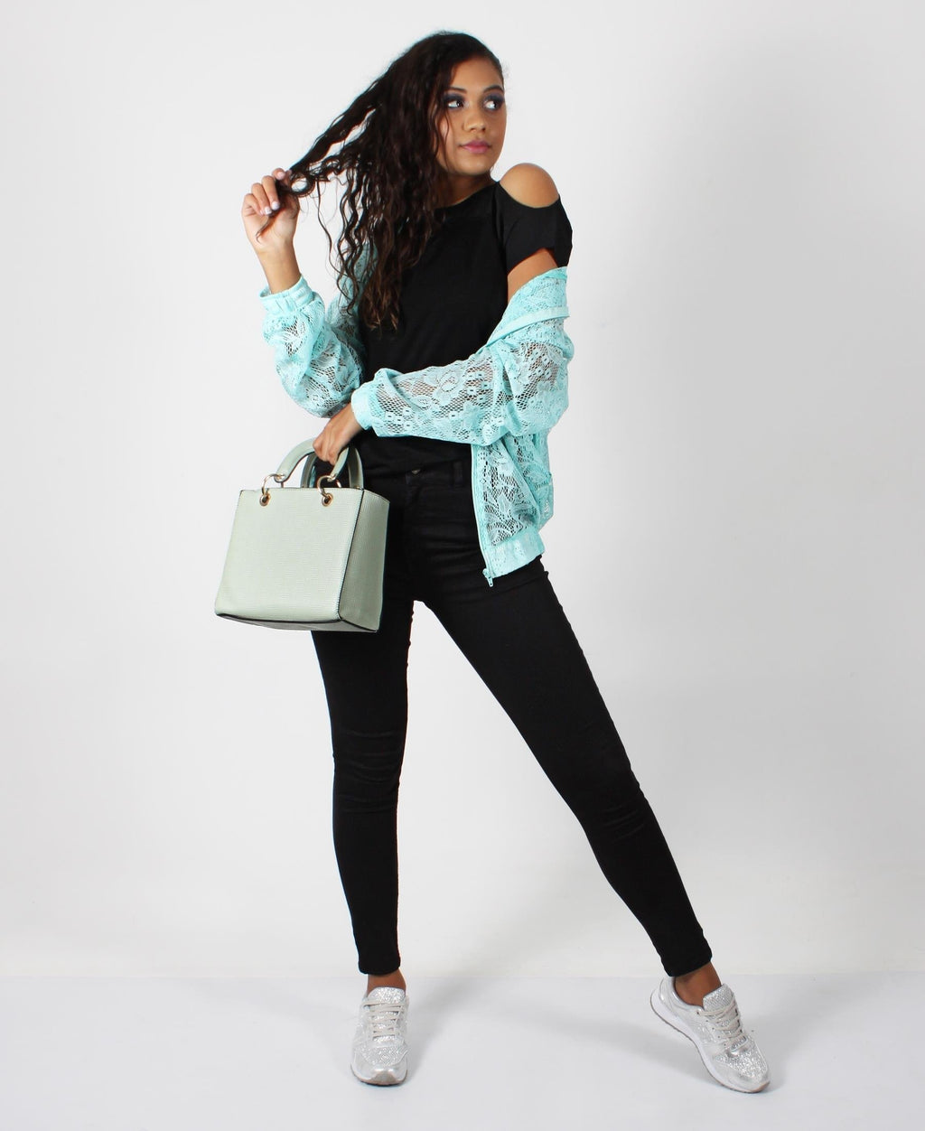 Lacey Zip Up Jacket - Green