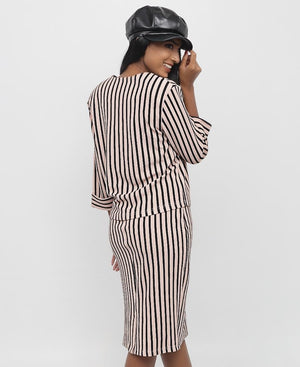 Striped Suit - Mink
