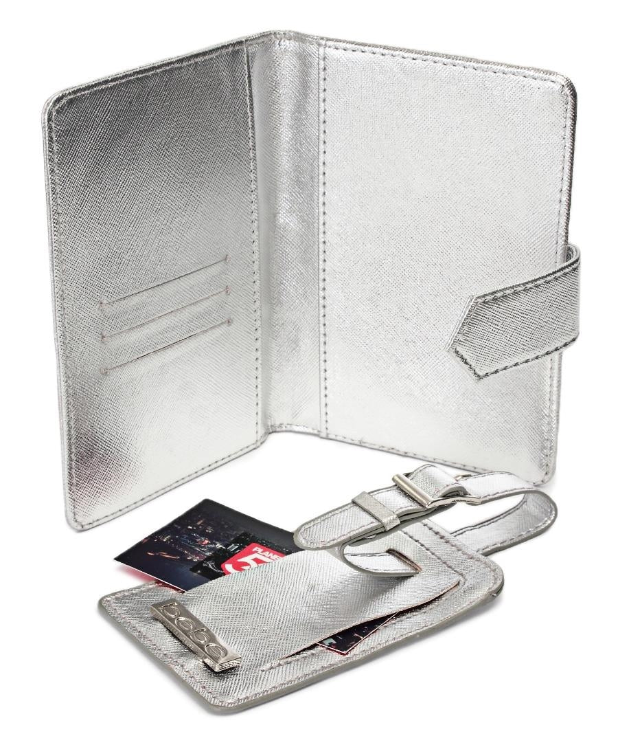 Passport Cover and Luggage Tag - Silver