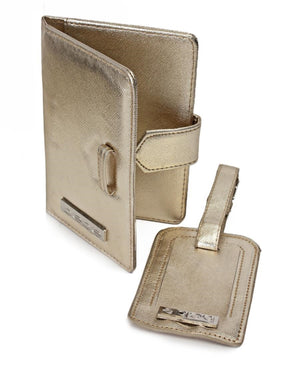 Passport Cover and Luggage Tag - Gold