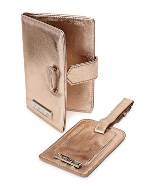 Passport Cover and Luggage Tag - Rose Gold
