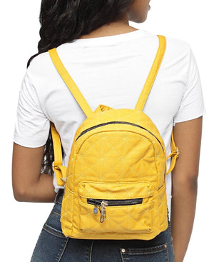 Embroided Backpack - Mustard