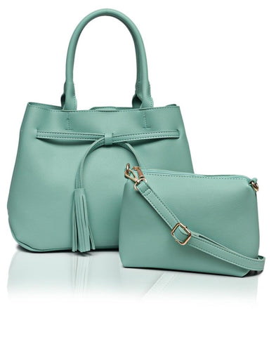 2 Piece Shopper Bag - Mint