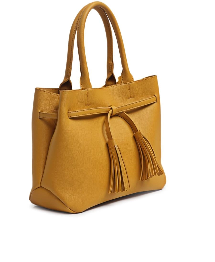 2 Piece Shopper Bag - Mustard