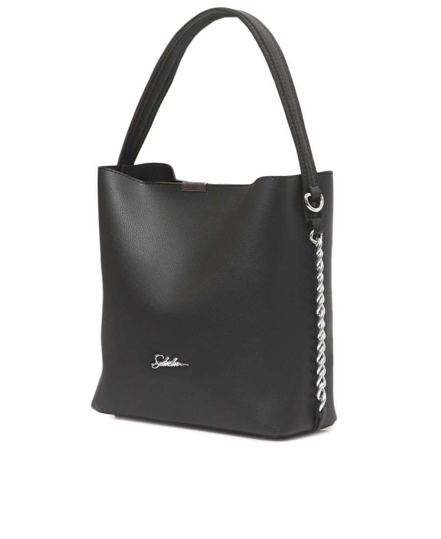 2 Piece Shopper Bag - Black