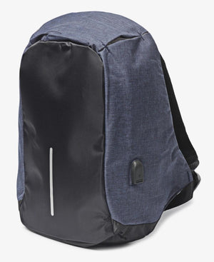 Safety Backpack With USB Port - Navy