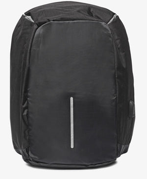 Safety Backpack With USB Port - Black