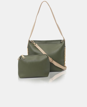 2 Piece Shopper Bag - Green