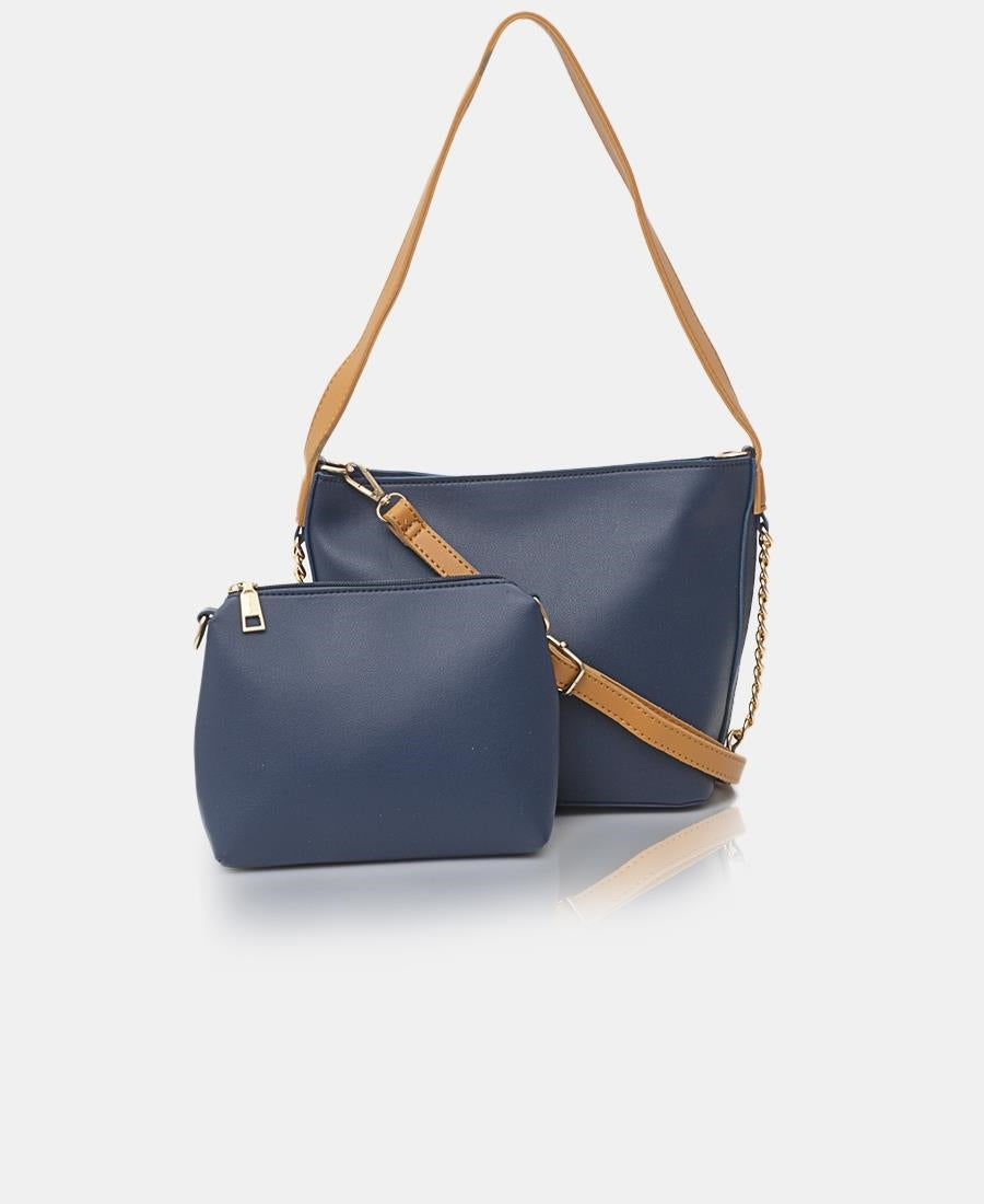 2 Piece Shopper Bag - Blue