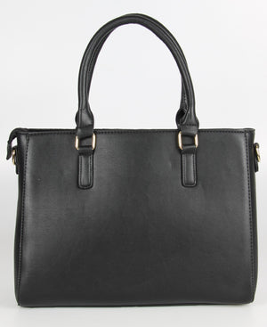 Croc Embossed Tote Bag - Black