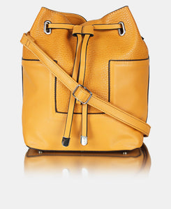 Pebble Drawstring Bag - Mustard