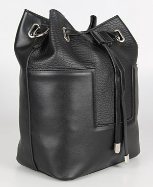 Pebble Drawstring Bag - Black