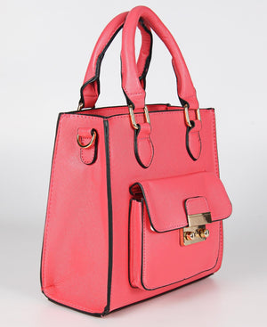 Mini Tote Bag - Coral