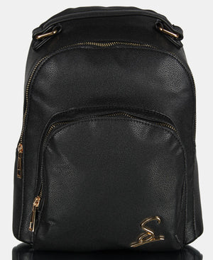 Double Compartment Backpack - Black
