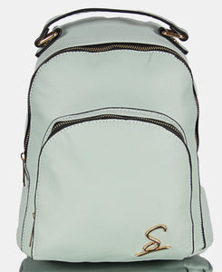 Ladies Blue Double Compartment Backpack - Backpacks