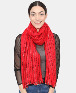 Two Tone Scarf - Red