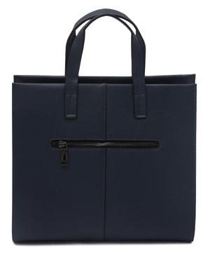 Genuine Leather Bag - Navy