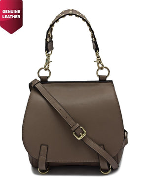 Genuine Leather Bag - Taupe