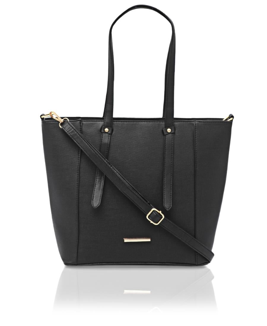Structured Shopper Bag - Black