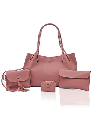 4 Piece Shopper Bag Set - Mink