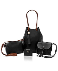 4 Piece Shopper Bag Set - Black