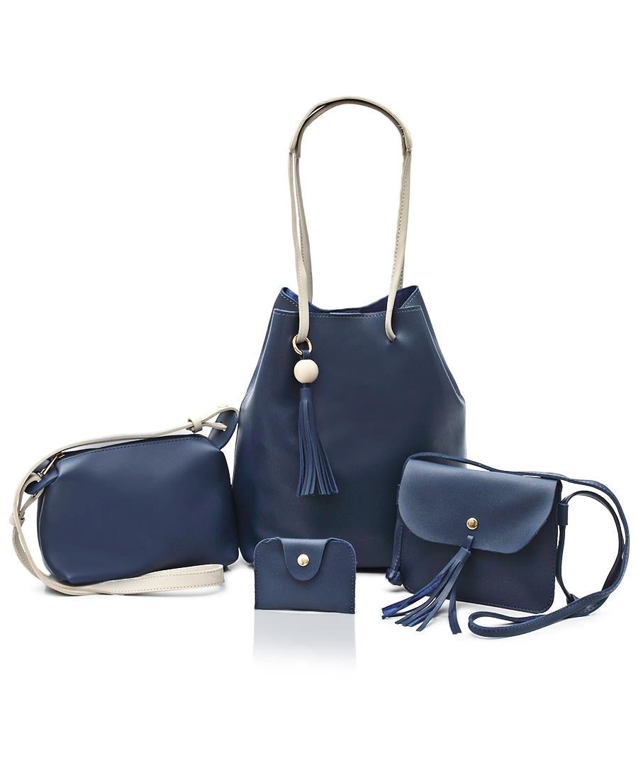 4 Piece Shopper Bag Set - Navy