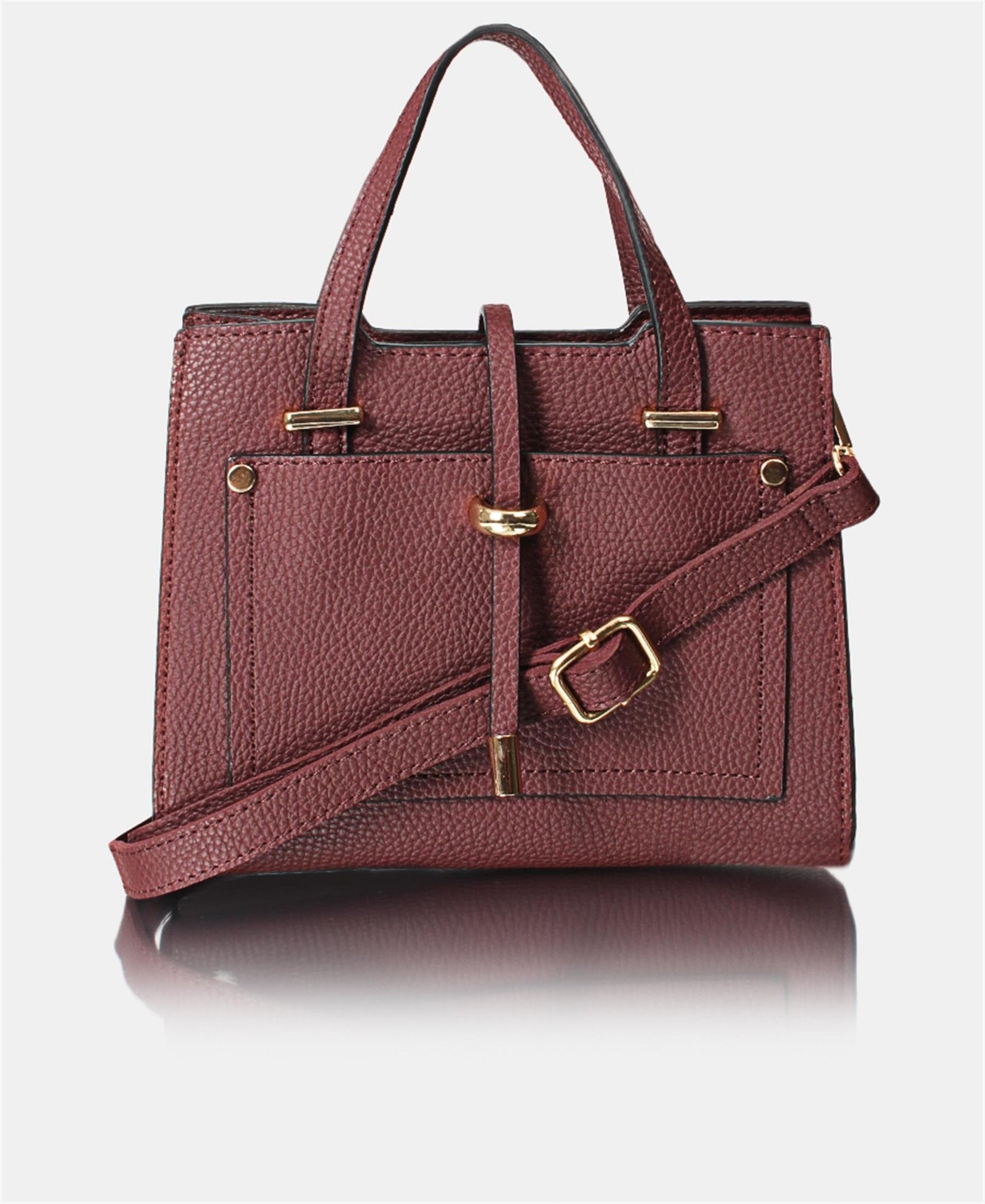 Mini Tote Bag - Burgundy