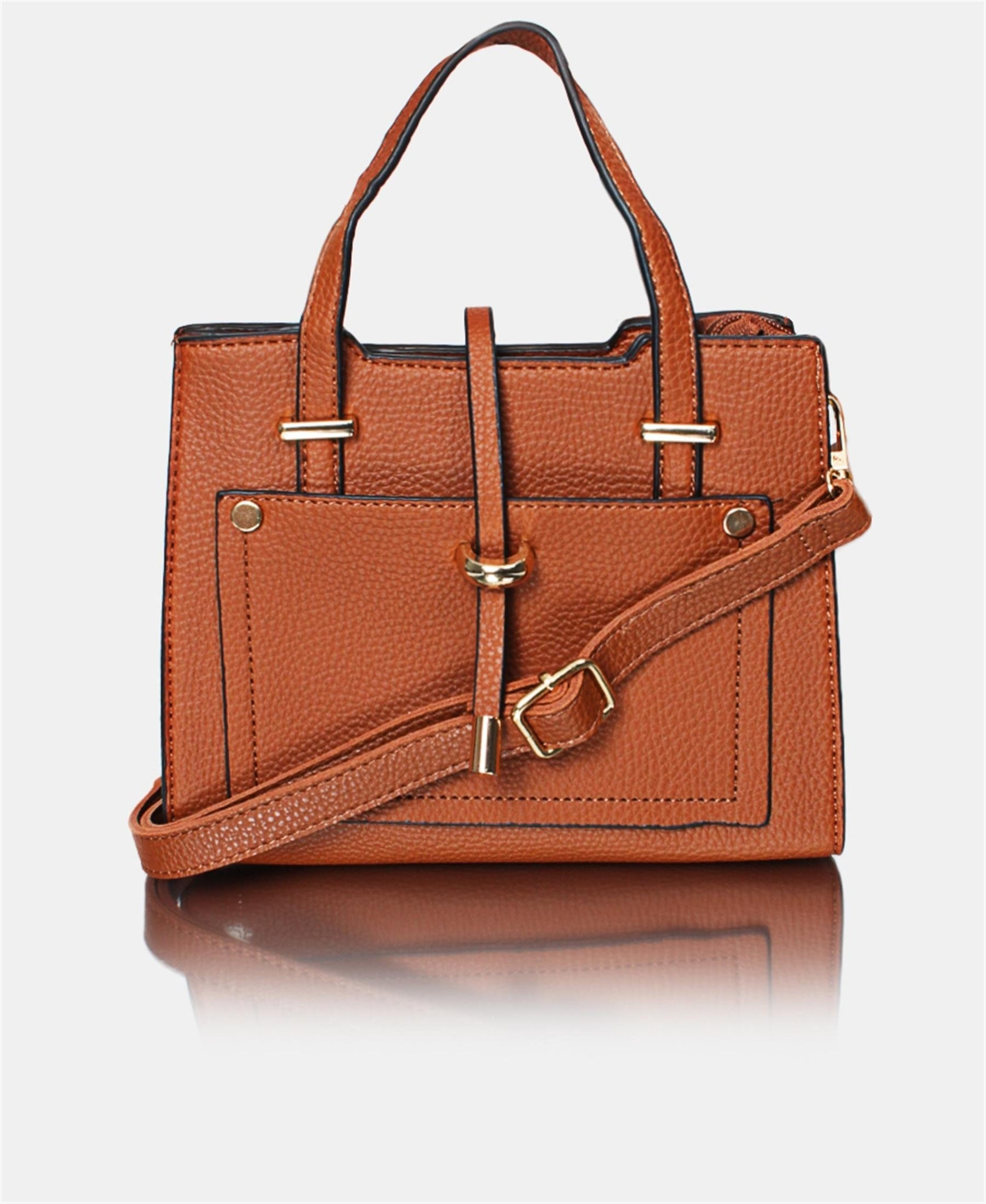Mini Tote Bag - Brown