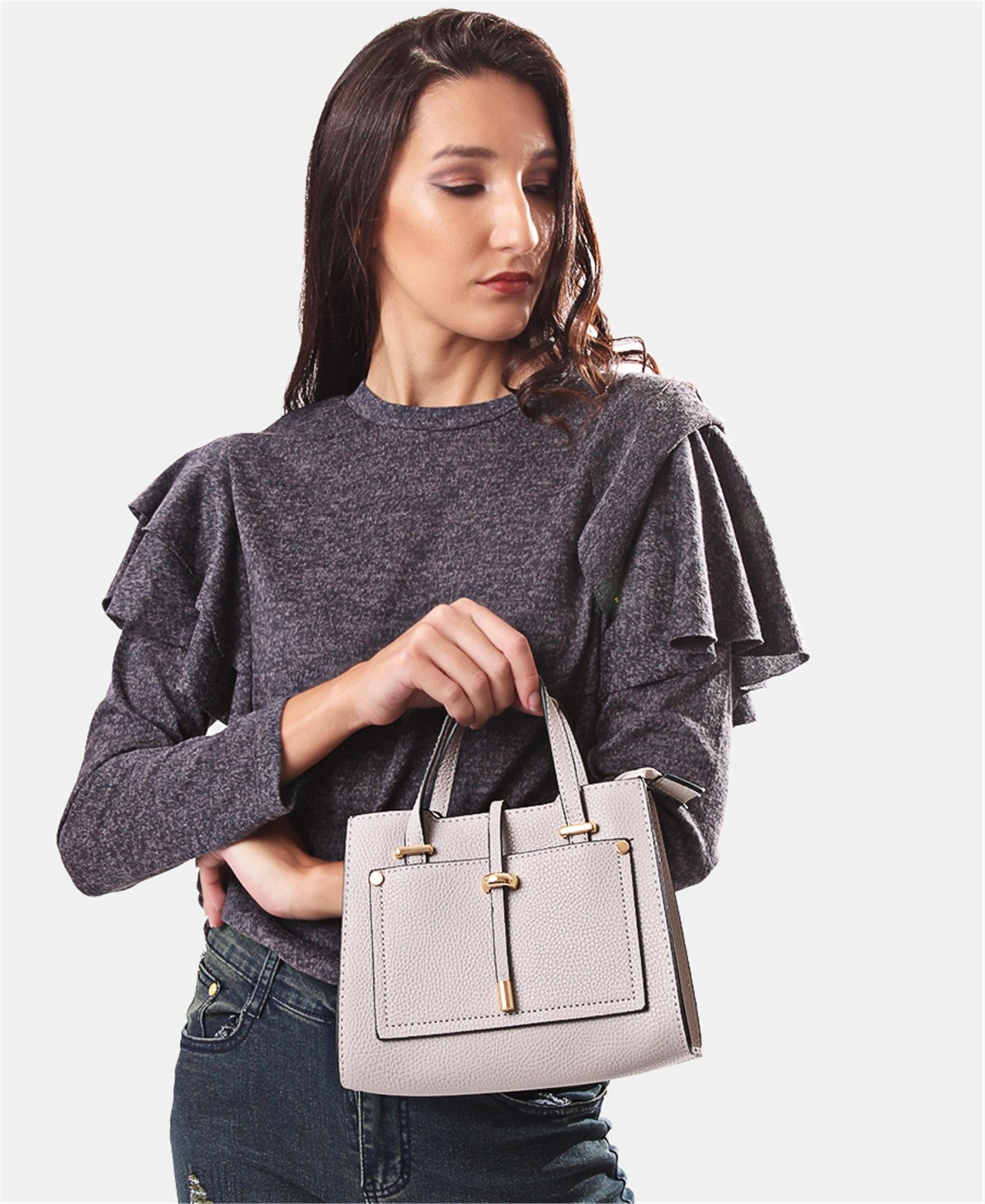 Mini Tote Bag - Grey