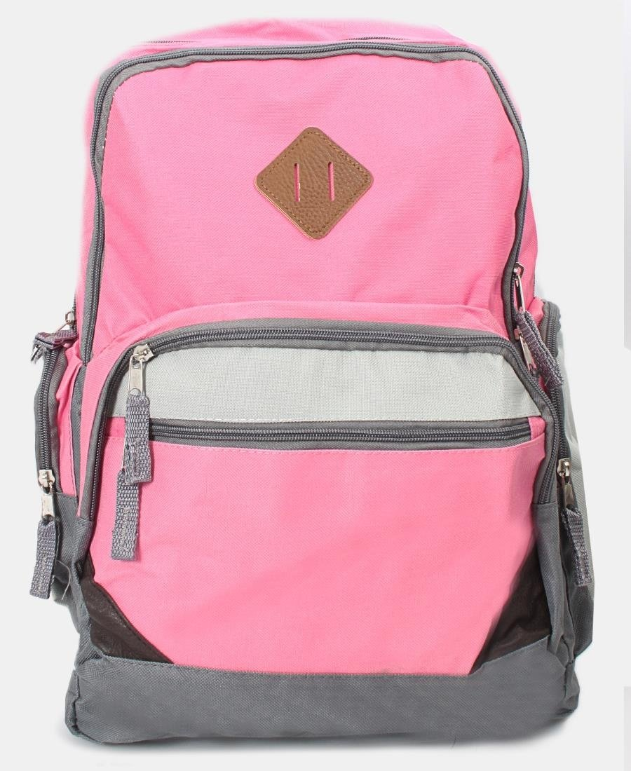 Thriple Compartment Backpack - Pink