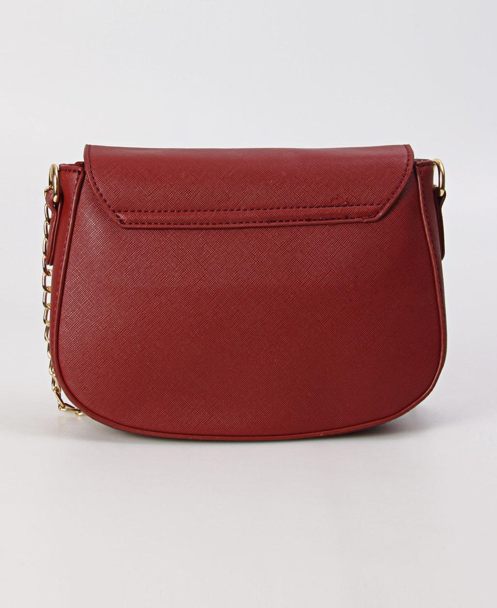 Small Structured Crossbody Bag - Red