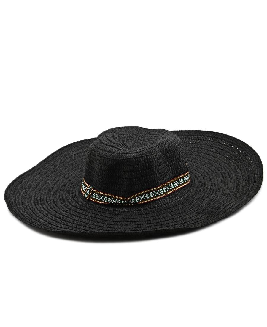 Straw Hat - Black