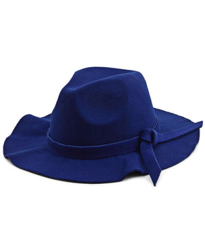 Wide Brim Hat - Blue
