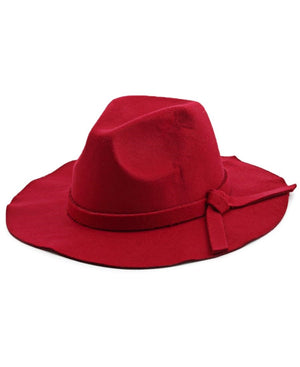 Wide Brim Hat - Red
