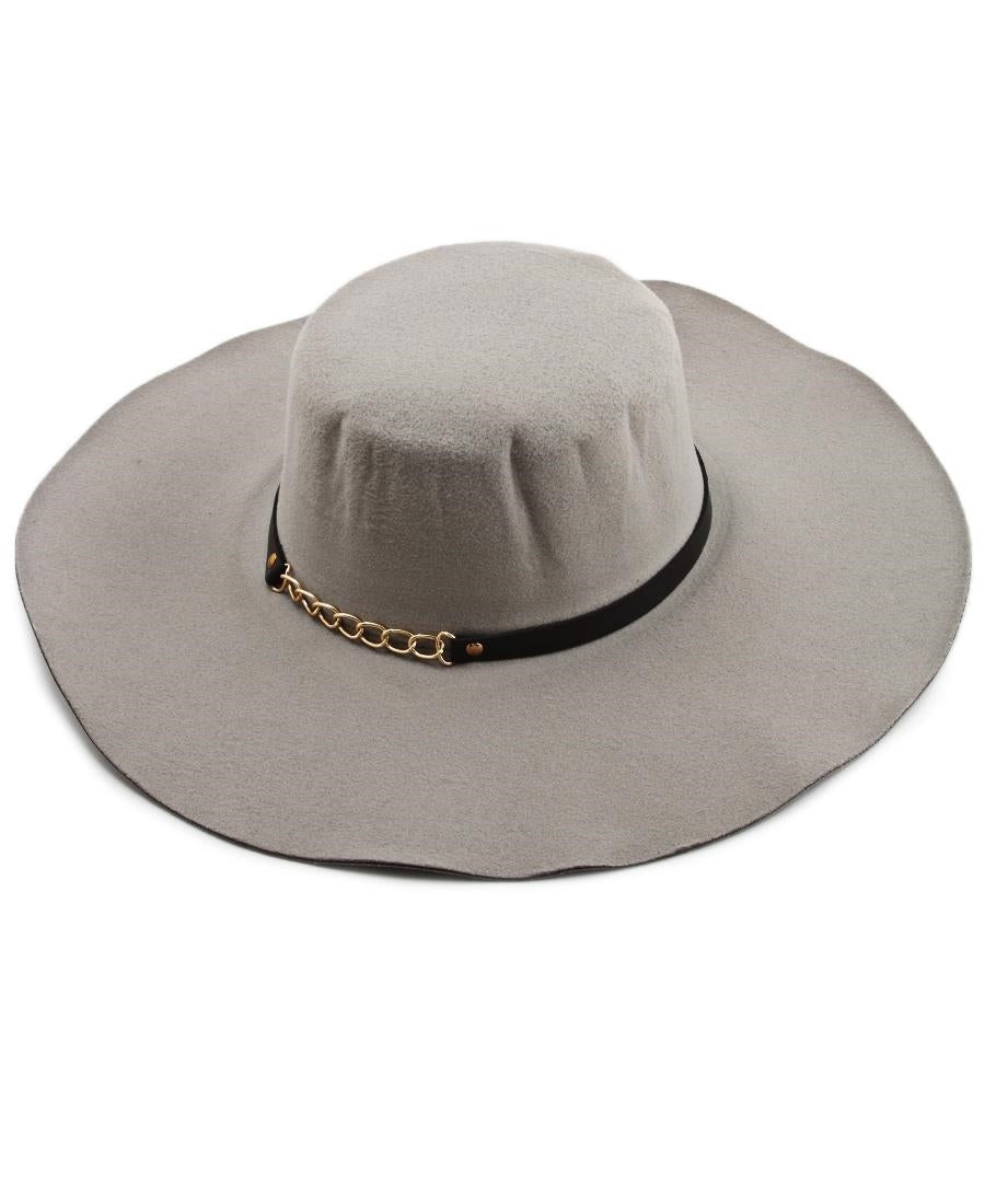 Widebrim Hat - Grey