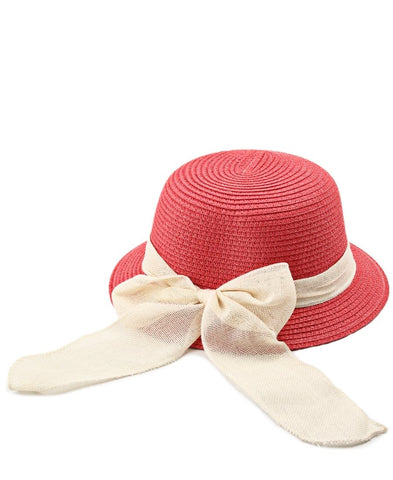 Straw Hat - Coral