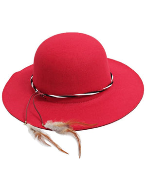 Widebrim Hat  - Red