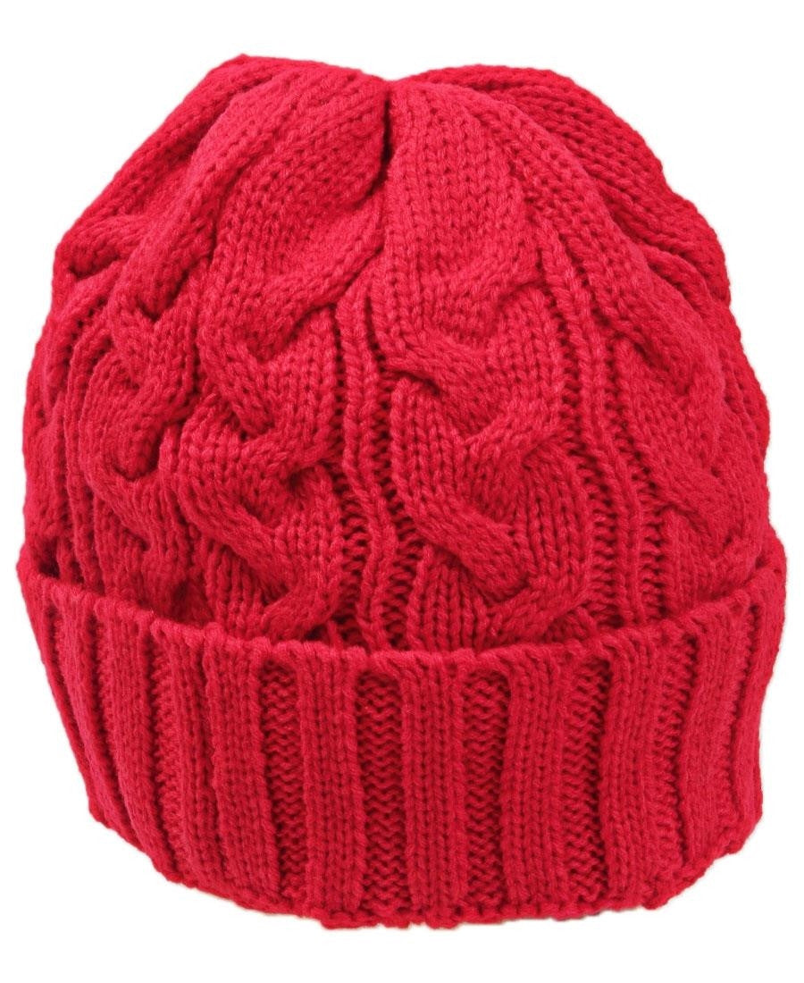 Woven Beanie  - Red