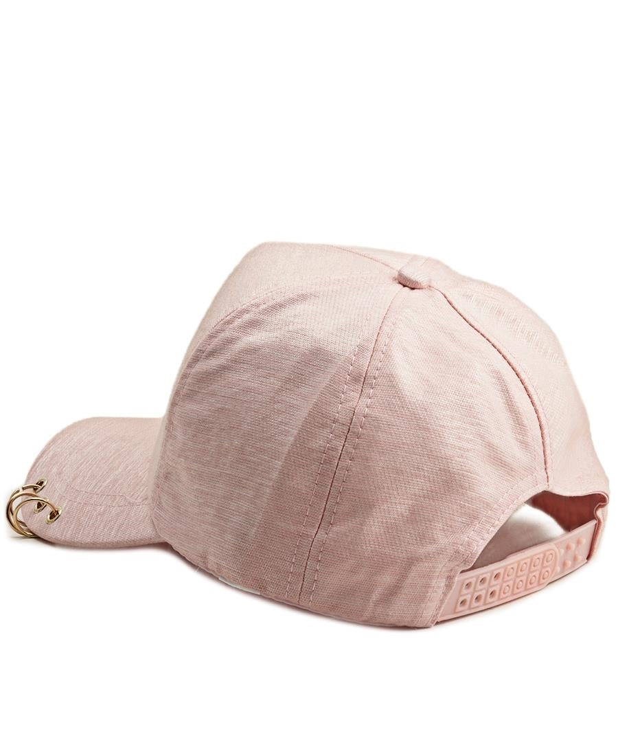 Ring Detail Cap - Pink